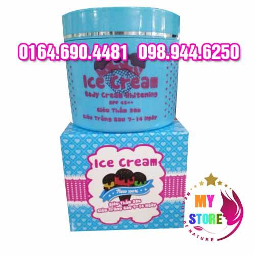 Ice cream body whitening