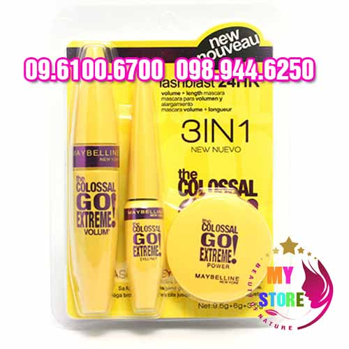 Bộ trang điểm maybelline 3in1-1
