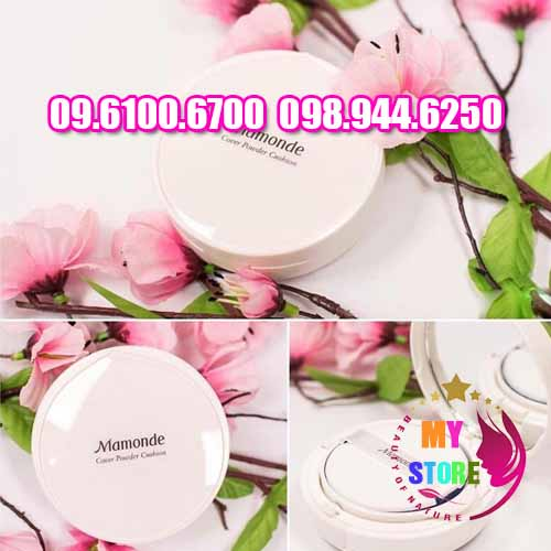 phấn mamonde cover powder cushion-4