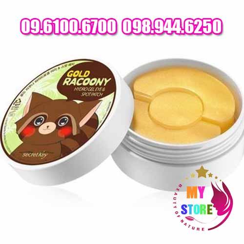 Mặt nạ gold racoony hydro gel eye & spot patch-1