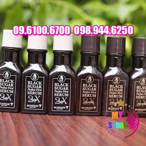 Serum Skinfood Black Sugar Perfect First Serum 2x Essential-3