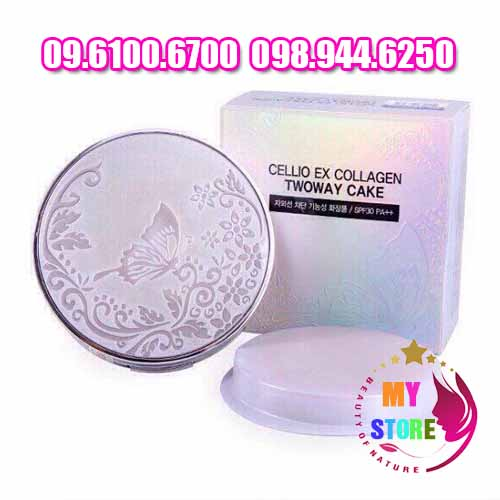 Phấn Phủ Cellio Ex Collagen Twoway Cake-3