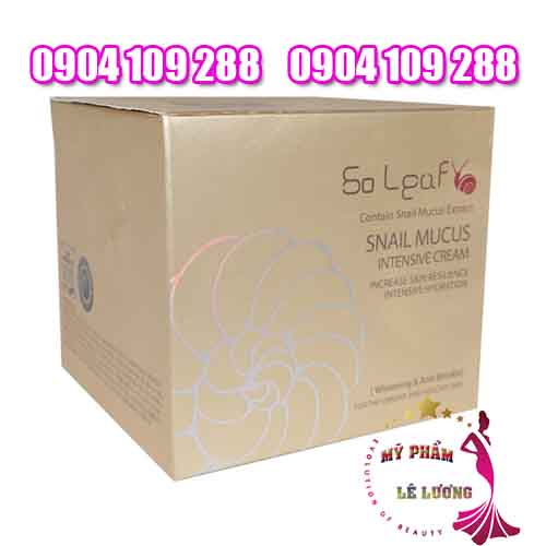 Kem ốc sên SO LEAF SNAIL MUCUS INTENSIVE CREAM-1
