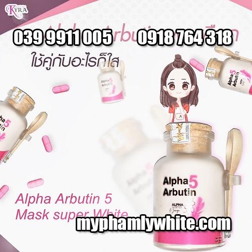 Bột kích trắng da Alpha Arbutin 5 White 3