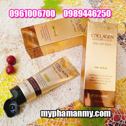 Mặt Nạ Mắt 3W Clinic Collagen Luxury Gold-1